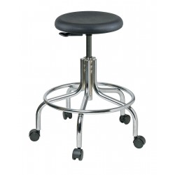Bevco Precision - 3210-P - Round Stool with 19 to 24 Seat Height Range and 300 lb. Weight Capacity, Black