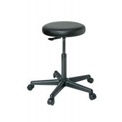 Bevco Precision - 3300-V - Round Stool with 20-1/2 to 28 Seat Height Range and 300 lb. Weight Capacity, Black