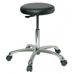 Bevco Precision - 3350-V - Round Stool with 19-1/2 to 27 Seat Height Range and 300 lb. Weight Capacity, Black