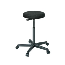 Bevco Precision - 3500-F - Round Stool with 24 to 34 Seat Height Range and 300 lb. Weight Capacity, Black