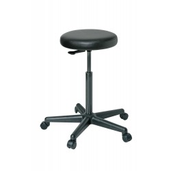 Bevco Precision - 3500-V - Round Stool with 24 to 34 Seat Height Range and 300 lb. Weight Capacity, Black