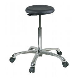 Bevco Precision - 3550-P - Round Stool with 21-1/2 to 31-1/2 Seat Height Range and 300 lb. Weight Capacity, Black