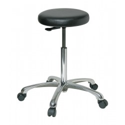 Bevco Precision - 3550-V - Round Stool with 22-1/2 to 32-1/2 Seat Height Range and 300 lb. Weight Capacity, Black