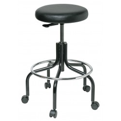 Bevco Precision - 3600-V - Round Stool with 25 to 30 Seat Height Range and 300 lb. Weight Capacity, Blue