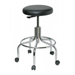 Bevco Precision - 3610-V - Round Stool with 25 to 30 Seat Height Range and 300 lb. Weight Capacity, Black
