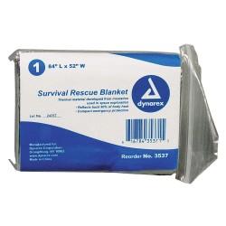 Dynarex - 3537 - Survival Rescue Blnkt, Slvr, 84x52in, PK120