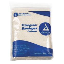 Dynarex - 3680 - Triangular Bandage, Cotton, 40inx56in, PK12