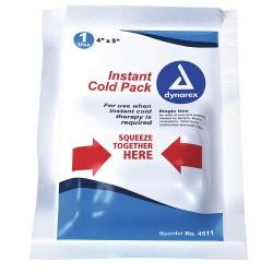 Dynarex - 4511 - 4 x 5 White Instant Cold Pack, 24PK