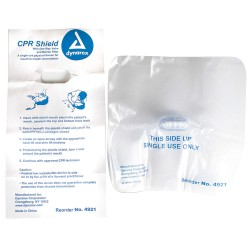 Dynarex - 4921 - CPR Shield, Univ, Wht, One-Way Valve, PK100