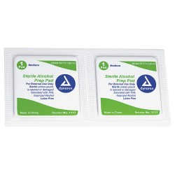 Dynarex - 1113 - Alcohol Pads, Wipes, Box, Wrapped Packets