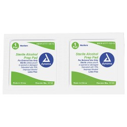 Dynarex - 1114 - Alcohol Pads, Wipes, Box, Wrapped Packets
