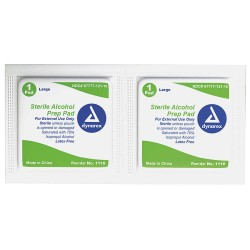 Dynarex - 1116 - Alcohol Pads, Wipes, Box, Wrapped Packets