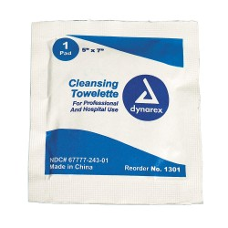Dynarex - 1301 - Cleansing Towelettes, Wipes, Box, Wrapped Packets