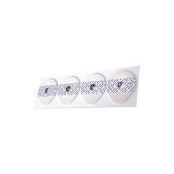 Dynarex - 7102 - White Snap Electrodes, Adult, Foam, 600 PK