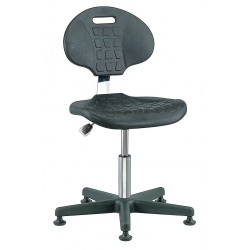 Bevco Precision - 7000CR - Polyurethane Cleanroom Pneumatic Task Chair with 15 to 20 Seat Height Range and 300 lb. Weight Cap