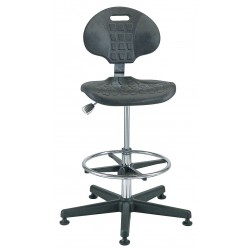 Bevco Precision - 7500CR - Polyurethane Cleanroom Pneumatic Task Chair with 21 to 31 Seat Height Range and 300 lb. Weight Cap