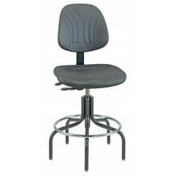Bevco Precision - 7601D - DURA Industrial Polyurethane Chair, 3-Way Tilt, 24 - 29 Height Adjustment