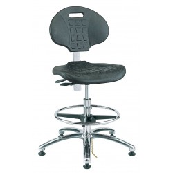Bevco Precision - 7351E - Polyurethane ESD/Cleanroom Pneumatic Task Chair with 17-1/2 to 25 Seat Height Range and 300 lb. We