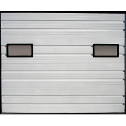 American Garage Door - IS24-96X120-2W-2FVL - Embossed Dock Door, White; Opening Height: 10 ft., Opening Width: 7 ft. 10, Insulated: No