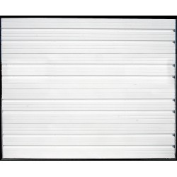 American Garage Door - IS24-110X90-XX-2FVL - Ribbed Dock Door, White; Opening Height: 7 ft. 6, Opening Width: 9 ft., Insulated: No