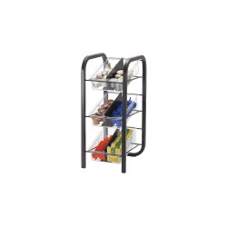 OfficeMate - 28007 - BreakCentral Condiment Tower - 6 Compartment(s) - 18.2 Height x 7.6 Width x 9.7 Depth - Clear, Black - Metal - 1Each