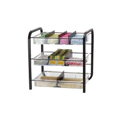 OfficeMate - 28008 - BreakCentral Giant Condiment Organizer - 9 Compartment(s) - 15.8 Height x 15.6 Width x 11.3 Depth - Black, Clear - Metal - 1Each