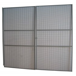 Other - 36T468 - Gray Steel Wire Mesh Door Kit 96H x 144D