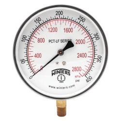 Winters Instruments - PCT327LF - Gauge, Pressure, 4-1/2in., 0 to 400 psi