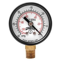 Winters Instruments - PEM1297LF - 1-1/2 Lead Free Vacuum Gauge, 30 to 0 In. Hg