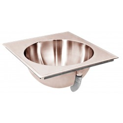 Just Manufacturing - CU-LLO-1513-3 - Antimicrobial Copper-Nickel Alloy Counter Top Bathroom Sink Without Faucet, 10 dia. Bowl Size