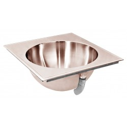 Just Manufacturing - CU-LLO-1917-1 - Antimicrobial Copper-Nickel Alloy Counter Top Bathroom Sink Without Faucet, 14 dia. Bowl Size