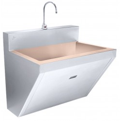 Just Manufacturing - CU-J-770-1-S - Stainless Steel Scrub Sink, With Faucet, Wall Mounting Type, Copper