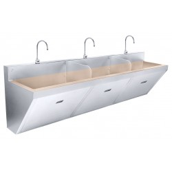 Just Manufacturing - CU-J-770-3-S - Stainless Steel Scrub Sink, With Faucet, Wall Mounting Type, Copper