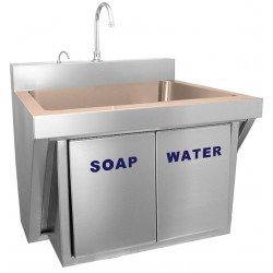 Just Manufacturing - CU-JKS-770-1 - Stainless Steel Scrub Sink, With Faucet, Wall Mounting Type, Copper