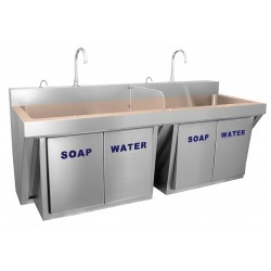 Just Manufacturing - CU-JKS-770-2 - Stainless Steel Scrub Sink, With Faucet, Wall Mounting Type, Copper