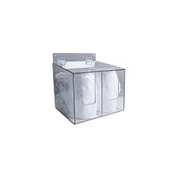 Zing Enterprises - 7307 - 11-1/2 x 10-1/2 x 12 PETG Protection Dispenser, Clear
