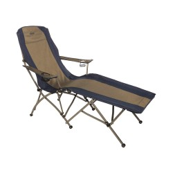 Kamp-Rite Tent Cot - FL145 - 64 x 24-1/2 Folding Lounge Chair with 300 lb. Weight Capacity; Blue/Gray