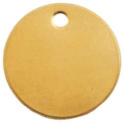 "C.H. Hanson - 1098B - Brass Blank Tag, Brass, Round, 1-1/2"" Height, 100 PK"