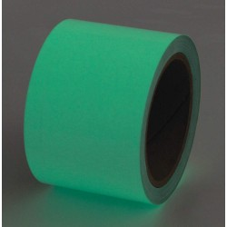 Incom / Top Tape & Label - 523523P - Glow-in-the-Dark Marking Tape, Solid, Continuous Roll, 3 Width, 1 EA