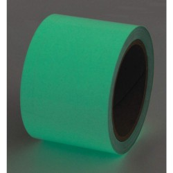 Incom / Top Tape & Label - 523524P - Glow-in-the-Dark Marking Tape, Solid, Continuous Roll, 4 Width, 1 EA