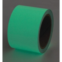 Incom / Top Tape & Label - 523526P - Glow-in-the-Dark Marking Tape, Solid, Continuous Roll, 6 Width, 1 EA