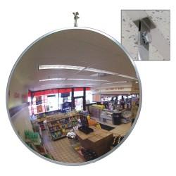 Se-Kure - SCVI-18T-CLIP - 18-dia. Circular Convex Mirror, 2 x 18, Viewing Distance: 18 ft.