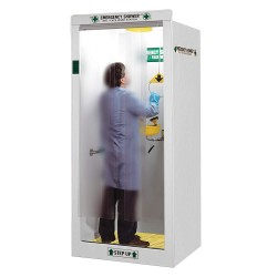 Hemco - 16604 - Emergency Shower Booth, Finished Sides