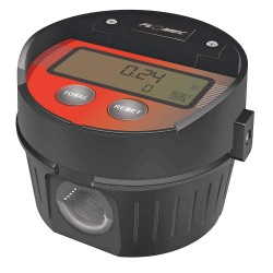 GPI - LM51DN - Oval Gear 1/2 FNPT Electronic Flowmeter, Aluminum, 0.26 to 7.8 gpm