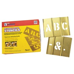 Reese Towpower - 10026 - Stencil, Letters, 1/2, Brass, 1 EA