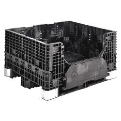 Buckhorn / Myers Industries - BH4840252010000 - Bulk Container, Black, 25H x 48L x 40W, 1EA