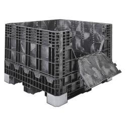 Buckhorn / Myers Industries - BH4845252010000 - Bulk Container, Black, 25H x 48L x 45W, 1EA
