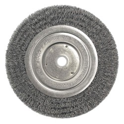 Weiler - 01095 - Arbor Hole Wire Wheel Brush, Crimped Wire, 6 Brush Dia.
