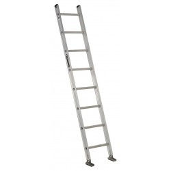 "Louisville Ladder - AE2108 - Aluminum Straight Ladder, 8 ft. Ladder Height, 17-13/16"" Overall Width, 300 lb. Load Capacity"