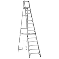 "Louisville Ladder - AP1014 - Aluminum Platform Stepladder, 15 ft. 2"" Ladder Height, 13 ft. 4"" Platform Height, 300 lb."
